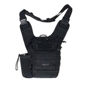 "DRAGO Gear Ambidextrous Shoulder Pack 11.5""x10""x8"" 1000D Cordura Black 15-303BL"
