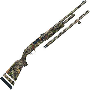 "Mossberg 500 Youth Super Bantam Field/Deer Combo 20 Gauge Pump Action Shotgun 22""/24"" Barrels 3"" Chamber 5 Rounds Synthetic Stock MOBUC Camo"