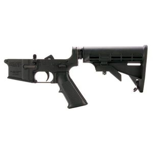 DPMS AR-15 Complete Lower Receiver Assembly .223 Remington/5.56 NATO AP4 Collapsible Stock Forged Aluminum Anodized Finish Matte Black
