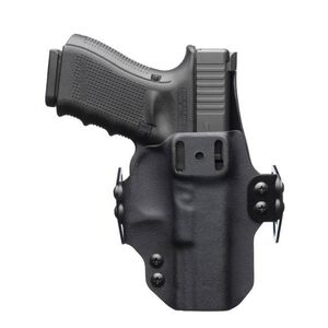 """BlackPoint Tactical DualPoint Appendix Outside The Waistband Holster GLOCK 43 Right Hand Draw 1.75"""" Strut Loop Kydex Matte Black"""