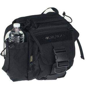 "DRAGO Gear Hiker Shoulder Pack 11""x11""x6.5"" 1000D Cordura Black 15-301BL"
