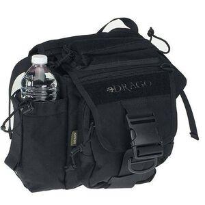 """DRAGO Gear Hiker Shoulder Pack 11""""x11""""x6.5"""" 1000D Cordura Black 15-301BL"""