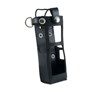 Boston Leather 5613 Radio Holder Motorola APX7000 with Extended Battery D-Ring Leather Plain Black 5613RC