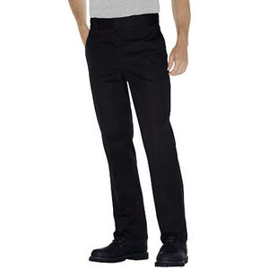 Dickies Men's Original 874 Pants Plain Front 34x34 Black
