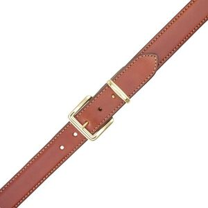 "Aker Leather B21 Concealed Carry Gunbelt 44"" Chrome Buckle Plain Finish Leather Tan B21-TP-44"
