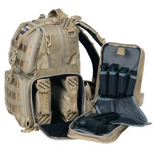 G Outdoors G.P.S. Tactical Range Backpack Tan GPS-T1612BPT