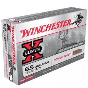 Winchester Super X 6.5 Creedmoor Ammunition 20 Rounds JSP 129 Grains Power Point JSP