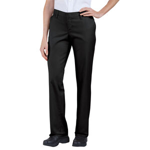 Dickies Women's Relaxed Straight Flat Front Pants 18R Black