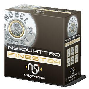 """NobelSport Quattro Finest 12 Ga 2.75"""" #7.5 Lead .875 oz 25 Rounds"""