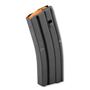 C Products Defense AR-15 Magazine 15 Rounds Crimped from 30 Round Body .223 Rem/5.56 NATO Polymer Follower Stainless Steel Matte Black Finish