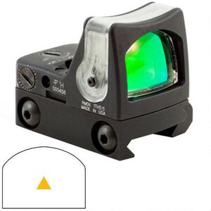 Trijicon RMR Dual Illuminated 12.9 MOA Amber Triangle with Mount Black RM08A-33