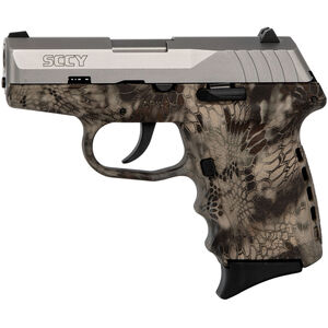"SCCY CPX-2 9mm Luger Subcompact Semi Auto Pistol 3.1"" Barrel 10 Rounds No Safety Kryptek Highlander Polymer Frame with Stainless Slide Finish"