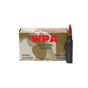 Wolf Performance Military Classic .30-06 Springfield Ammunition 20 Rounds JSP 140 Grains