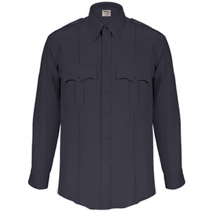 Elbeco Textrop2 Men's Long Sleeve Shirt with Zipper Polyester 17.5x34 Navy