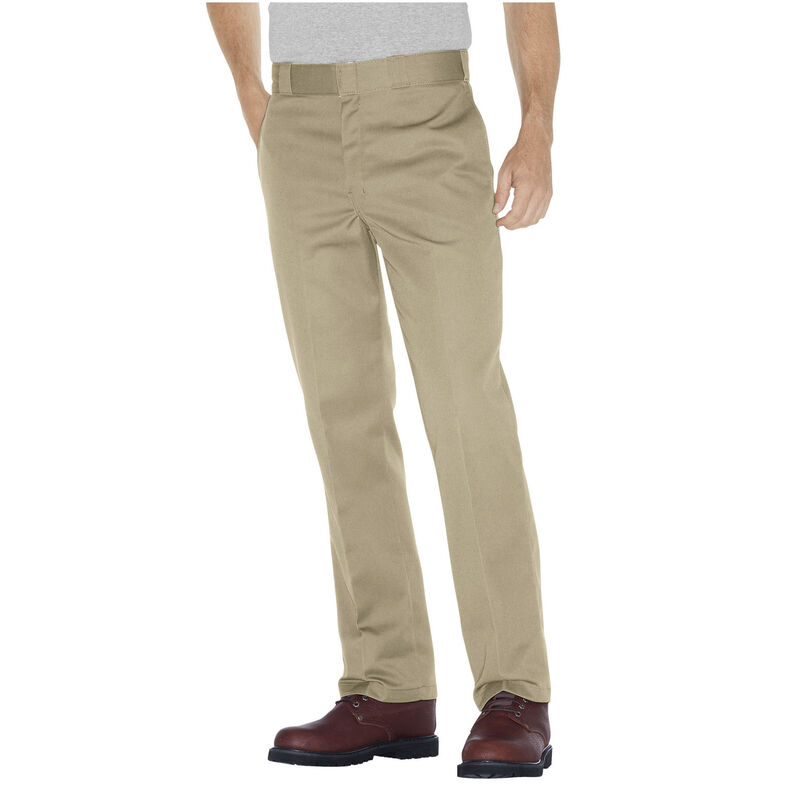 Dickies Men's Original 874 Pants Plain Front Polyester / Cotton Waist 38 Length 34 Desert Sand 874