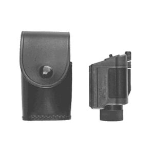 Stallion Leather Streamlight / Insight Tech M4 Tactical Illuminator Holder Nickel Snap Leather Plain Black