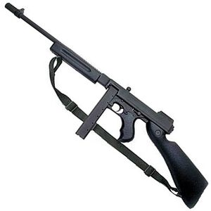 "Auto-Ordnance Thompson 1927A-1 Commando Semi Auto Carbine .45 ACP 16.5"" Finned Barrel 20 Round Stick Magazine Blade Front Sight Black Stock/Forend Blued Finish T1-C"