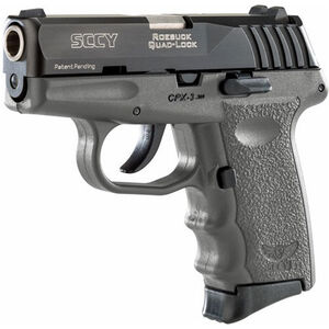 "SCCY CPX-3 .380 ACP Semi Auto Pistol 2.96"" Barrel 10 Rounds No Safety Sniper Gray Polymer Frame with Black Slide Finish"