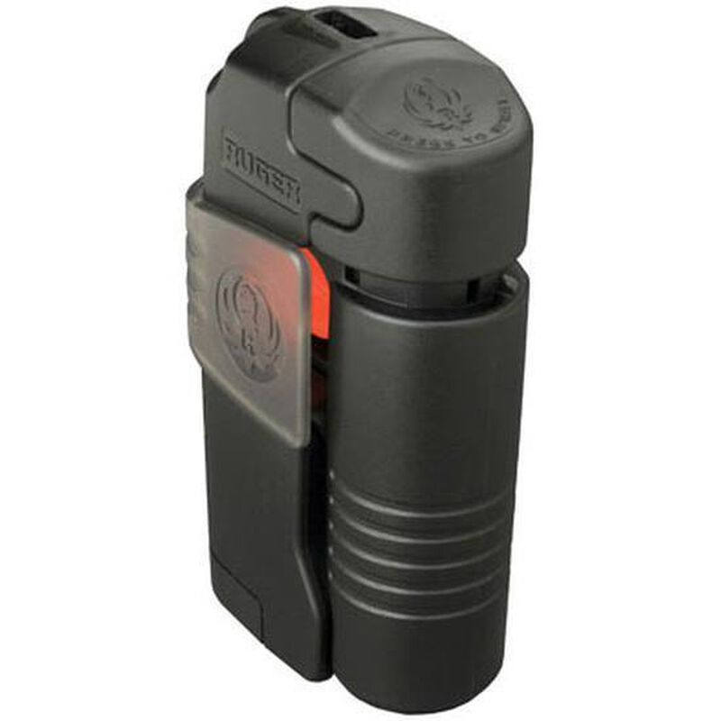 Ruger Ultra Pepper Spray System .388oz Strobe Light 125 Decibel Alarm Black RHB001