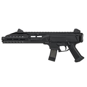 "CZ Scorpion EVO 3 S1 Pistol With Flash Can Semi Auto Pistol 9mm Luger 7.72"" Barrel 20 Rounds 5"" KAK Flash Can Muzzle Device Polymer Frame Matte Black Finish"