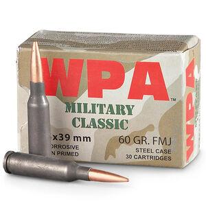 Wolf Military Classic 5.45x39 Ammunition 750 Rounds 60 Grain Full Metal Jacket Steel Cased Bi-Metal Jacket 2822fps