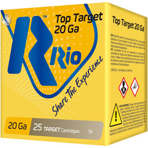 "RIO Ammunition Top Target 20 Gauge Ammunition 250 Rounds 2-3/4"" Shell #8 Lead Shot 7/8oz 1250fps"