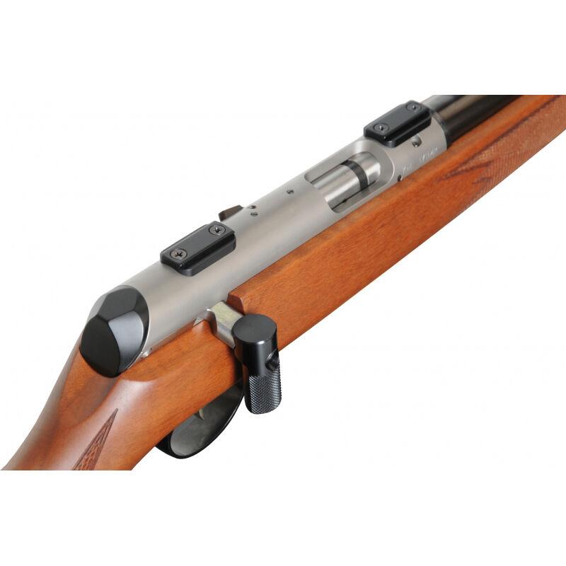 "Anschutz 1727 F Bolt Action Rifle .17 HMR 22"" Match Barrel 4 Rounds Match Two Stage Trigger German Walnut Stock Blued Barrel/Silver Receiver 2060001"
