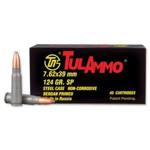 TulAmmo 7.62x39mm Ammunition 40 Rounds, JSP, 124 Grain