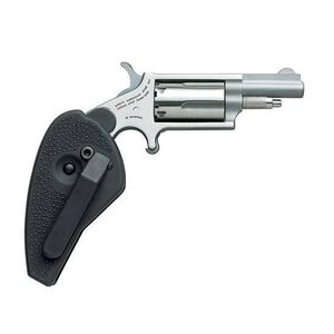 "NAA Mini Revolver .22 Magnum 1.6"" Barrel 5 Rounds Holster Grip Stainless Steel Frame NAA-22M-HGFC"