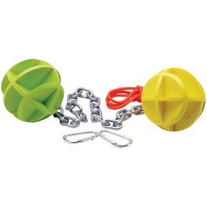 SME Self-Healing Bouncing Balls for .22 - .50 Cal, Green/Yellow