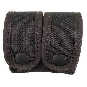 Uncle Mike's Fitted Double Speedloader Pouch .38 & .357 Cordura Black