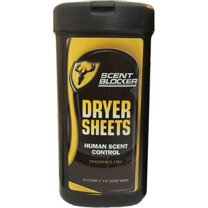 Robinson Outdoors ScentBlocker Dryer Sheets 20 Count Canister