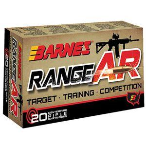 Barnes Range AR .300 Blackout Ammunition 20 Rounds Lead Free OTFB 90 Grains 30733