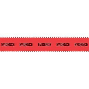 Sirchie Evidence Tape Printed With Evidence 108' Long Roll Red EZ10002