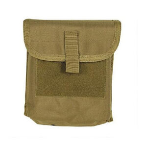 Voodoo Tactical M60/M240 100 Round Belted Ammo Pouch Hook/Loop Flap Overlapping Elastic Flaps MOLLE Webbing Compatible Nylon Coyote Tan