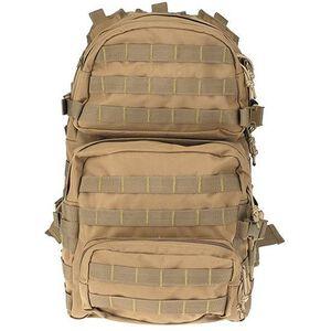 """DRAGO Gear Assault Backpack 20""""x15""""x13"""" 600D Polyester Tan 14-302TAN"""