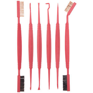 Real Avid Accu-Grip Picks and Brushes Cleaning Kit Polymer Red