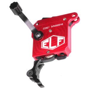 Elftmann Tactical Remington 700 SE Precision Rifle Trigger Adjustable Pull Weight Safety/No Bolt Release/Curved Black Trigger Shoe