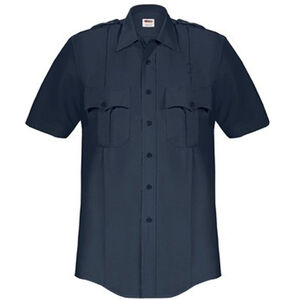 Elbeco Paragon Plus Men's Short Sleeve Shirt Extra Small Polyester Cotton Midnight Navy