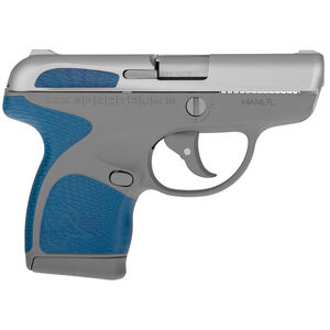 "Taurus Spectrum Semi Auto Pistol .380 ACP 2.8"" Barrel 6/7 Round Magazines Low Profile Fixed Sights Stainless Steel Slide/Polymer Frame Gray/Indigo Blue Accents"