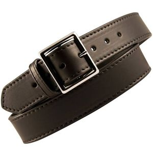 "Boston Leather 6505 Garrison Leather Belt with Lining 32"" Nickel Buckle Plain Leather 6505L-1-32"