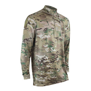 XGO Phase 4 Performance DWR 1/4 Zip Mock Turtleneck Large 86%/14% Polyester/Spandex MultiCam