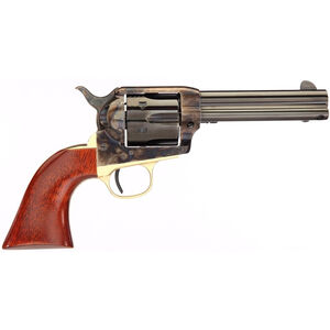 """Taylor's & Co The Ranch Hand .357 Magnum Single Action Revolver 4.75"""" Blued Barrel 6 Rounds Tuned Action Walnut Grips Brass Back Strap Case Hardened Finish"""