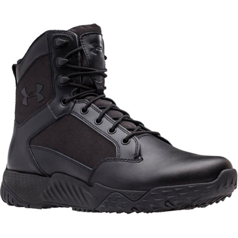 Under Armour Stellar Men's Tactical Boot Size 13 Leather/Nylon Black 1268951