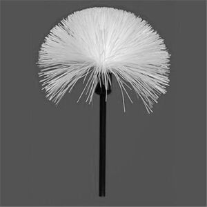 Sirchie Fiberglass Fingerprint Powder Brush Black Handle White Fiberglass Bristles 122L