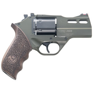 "Chiappa Rhino 30SAR Single Action Revolver .357 Magnum 3"" Barrel 6 Rounds Aluminum Alloy Frame Wood Grips OD Green Finish"