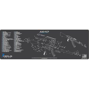 """Cerus Gear AK-47 Schematic ProMat Rifle Size 12""""x36"""" Synthetic Grey/Blue"""