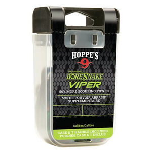 Hoppe's BoreSnake Viper Den Bore Cleaner Pistol/Revolver Length .22 Caliber Pull Handle/Storage Case