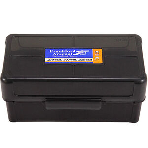 Frankford Arsenal Plastic Hinge-Top Ammo Box 50 Round WSM and SAUM Calibers Polymer Gray