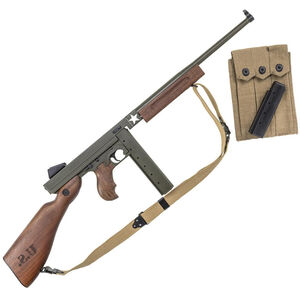 """Auto-Ordnance Thompson M1 Tanker """"1927-A1"""" WWII .45 ACP Semi Auto Rifle 16.5"""" Barrel 30/20 Rounds Blade Front Sight/Fixed Battle Rear Walnut Engraved Furniture"""